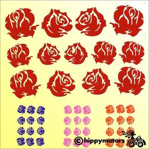 Rose decals for vehicles