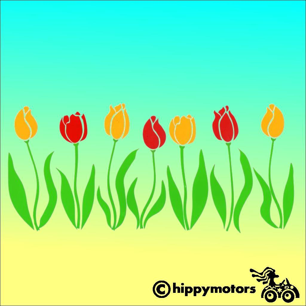 Tulip Flower decals for vehicles