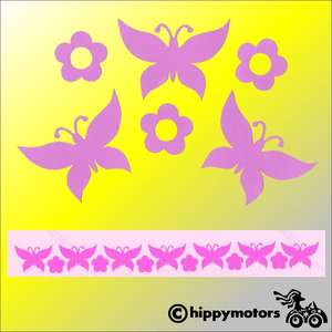 Tiny butterfly decals