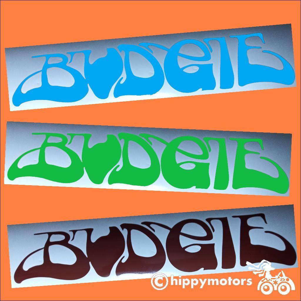 budgie the band music sticker