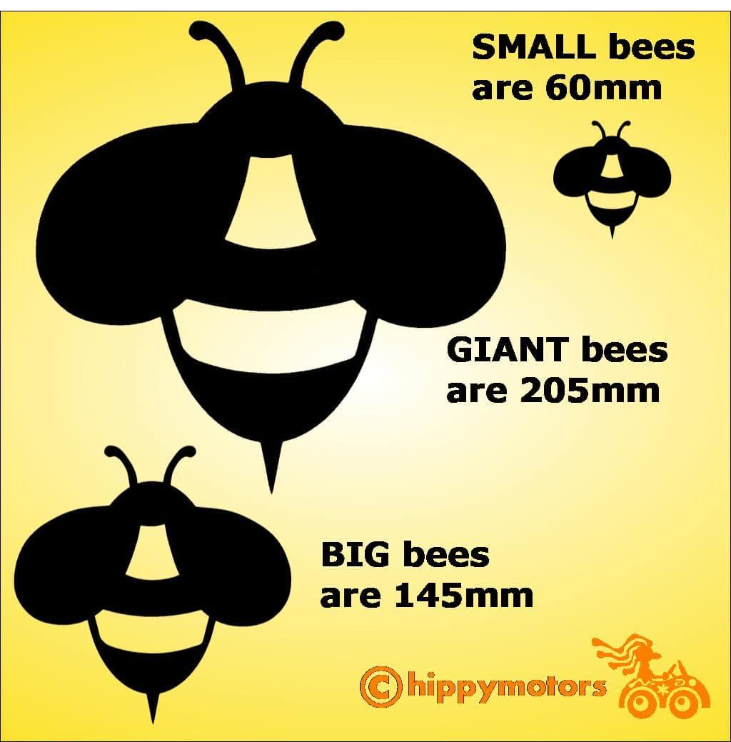 black bee decal for black cars and camper vans