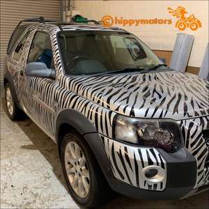 Zebra print vinyl decals for vehicles and walls