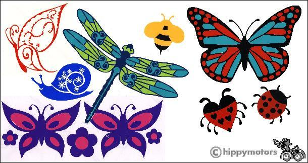 Bugs Butterfly Ladybird Bee stickers
