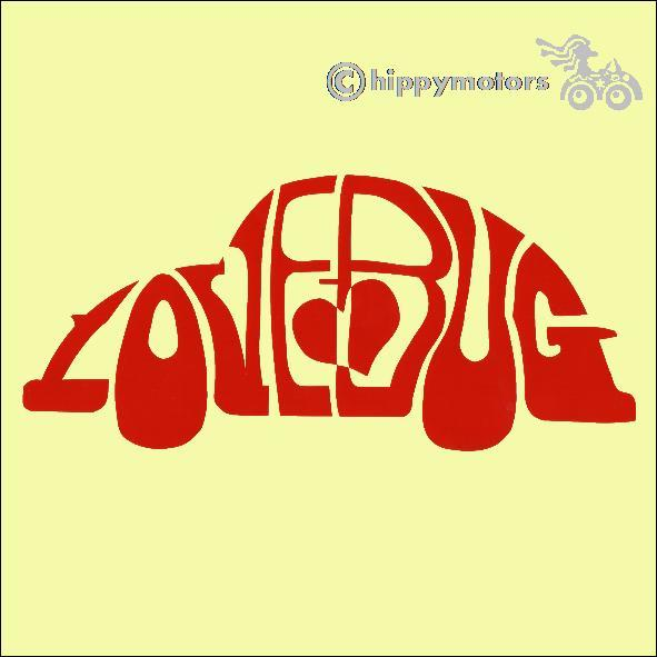 love bug herbie beetle vinyl car sticker