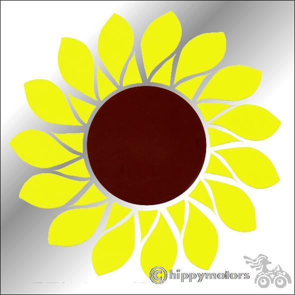 Sunflower car sticker