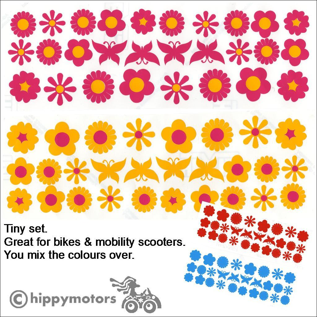 mixed flower bed and butterfly decal sheets