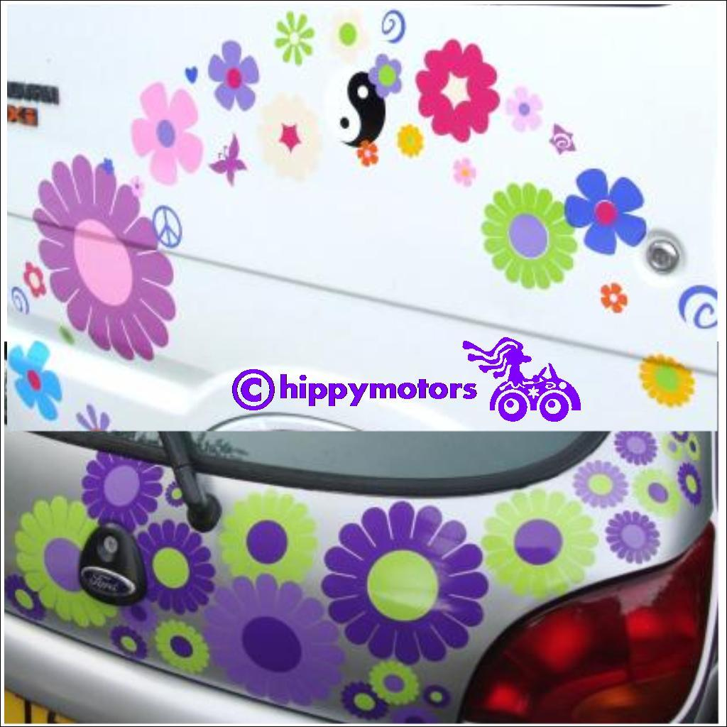 gerbera daisy flowers stickers on cars