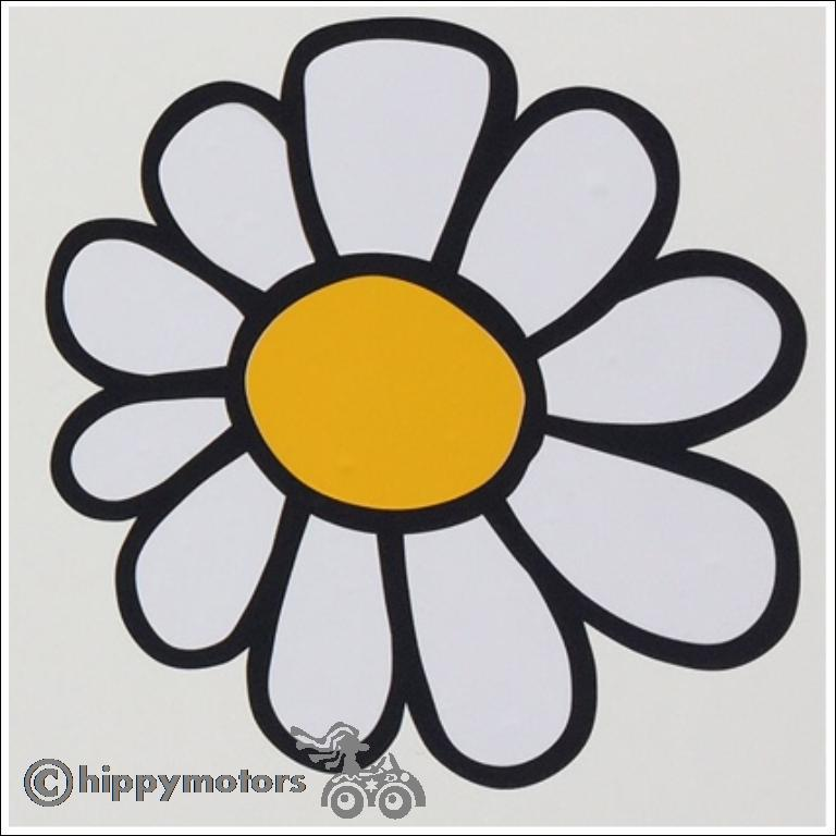 Large daisy flower decal