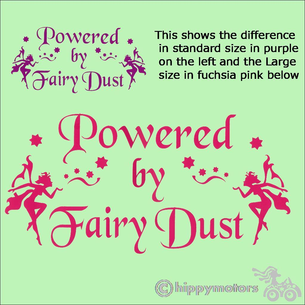 fairy dust camper van bumper sticker