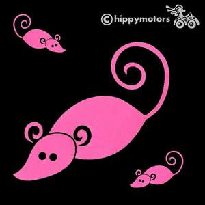 Mouse sticker for cars and windows