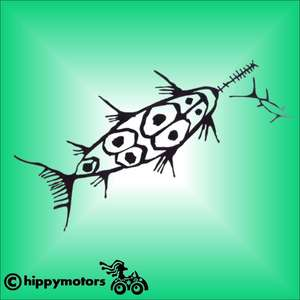 swordfish vinyl decal for canoes, kayaks, paddles