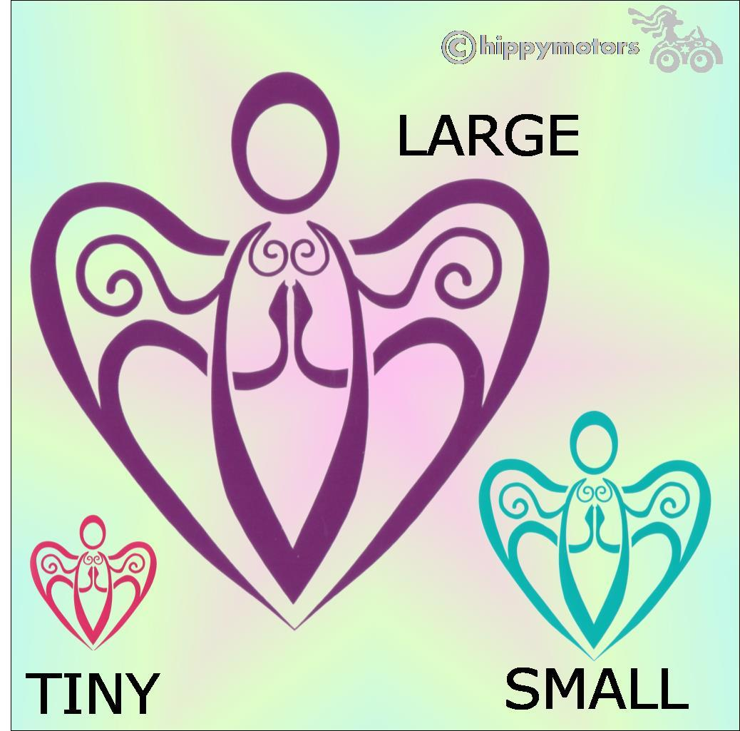 angel car sticker heart window decal transfer hippy motors