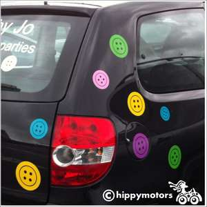 button vinyl stickers on car vehicle