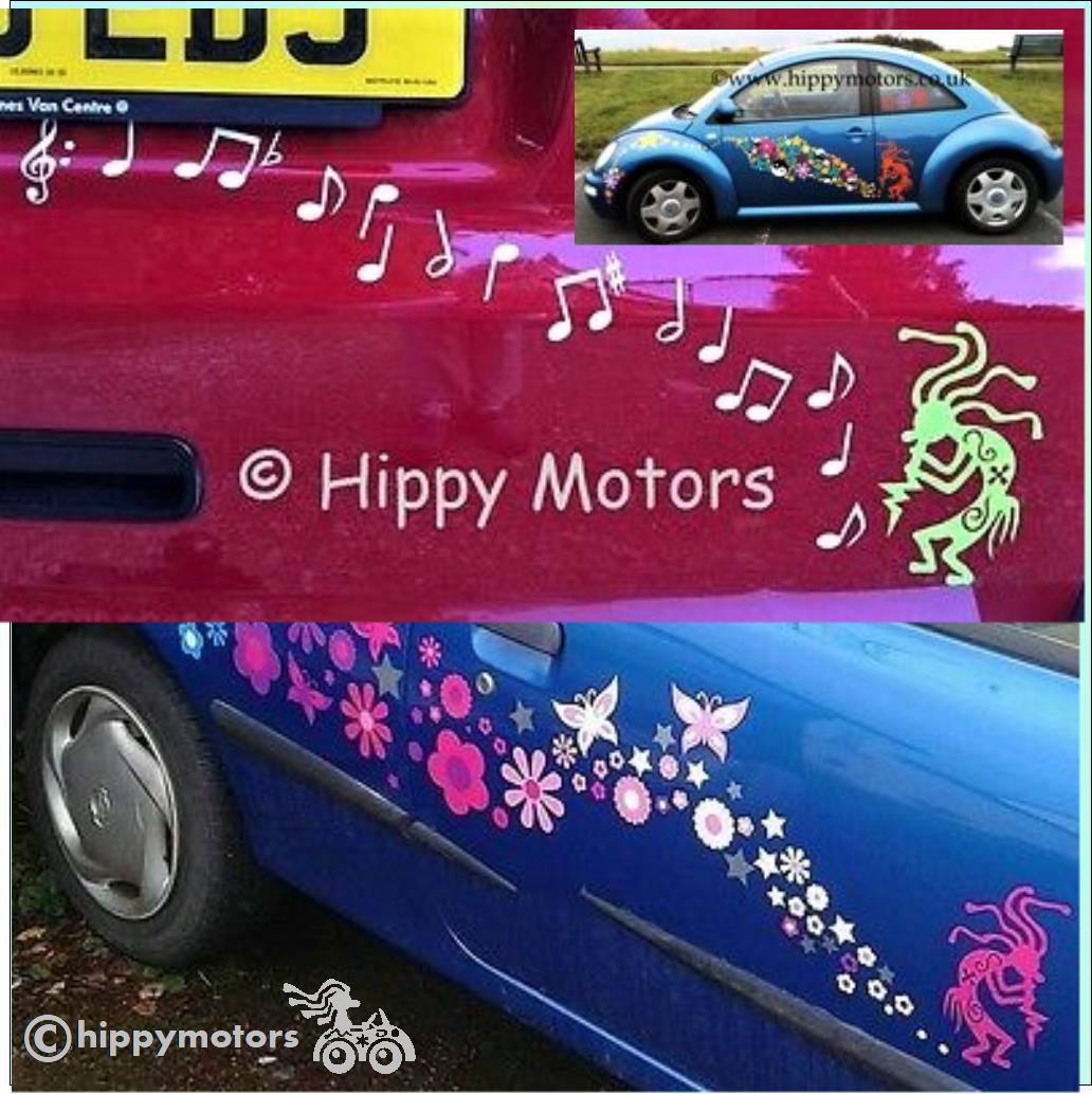 kokopelli hippy stickers car decals hippy motors