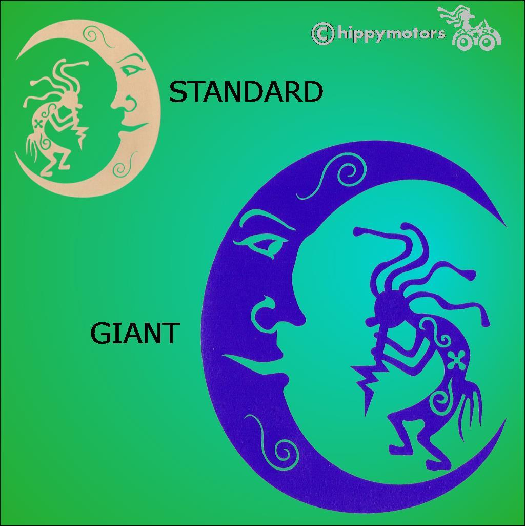 kokopelli flute moon caravan car stickers window transfers hippy motors