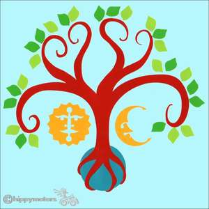 tree of life car sticker caravan decals transfer