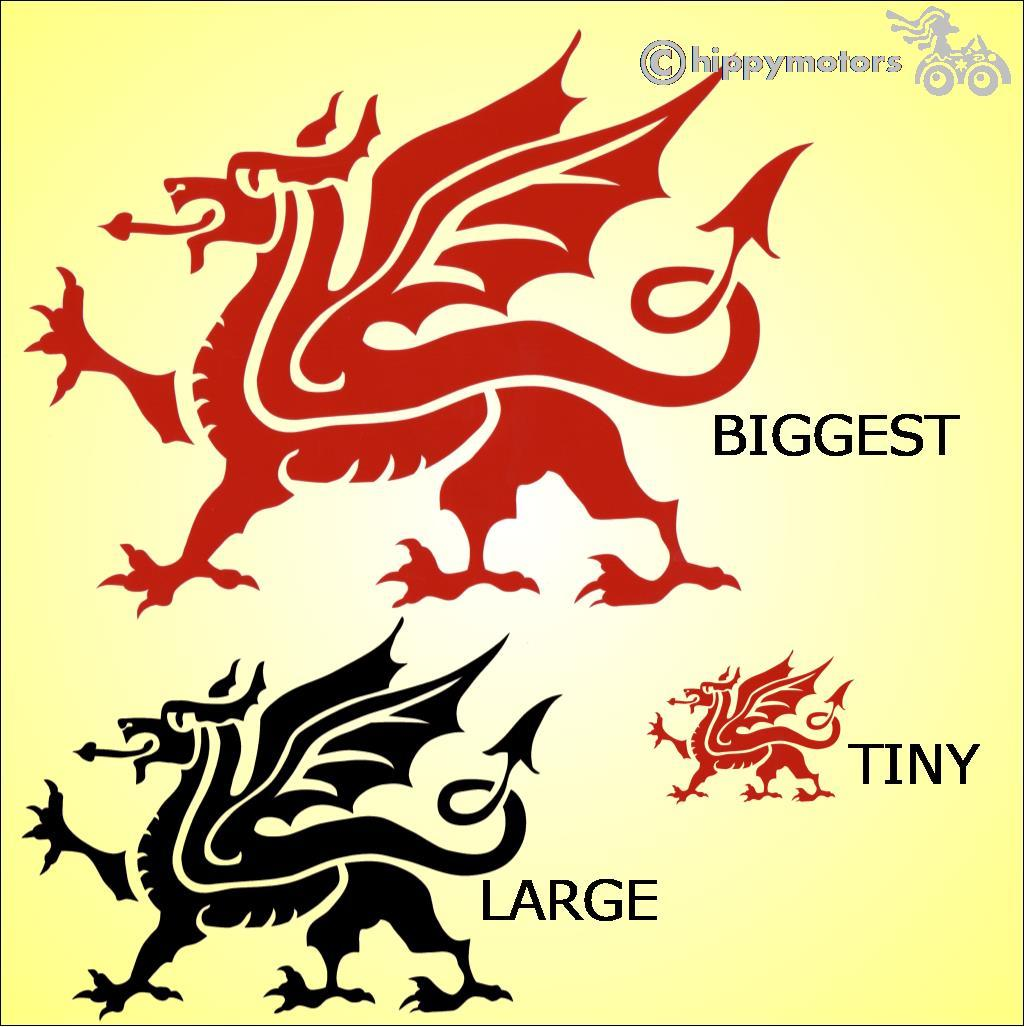 Welsh dragon car stickers vinyl caravan window decals transfers hippy motors