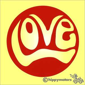 quality love sticker made in UK and weather resistant