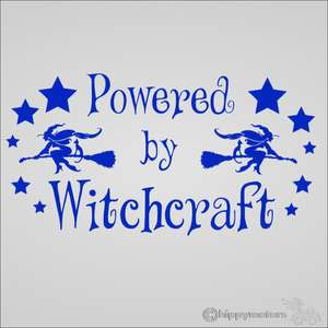 witch star power car decal caravan transfer graphics hippy motors