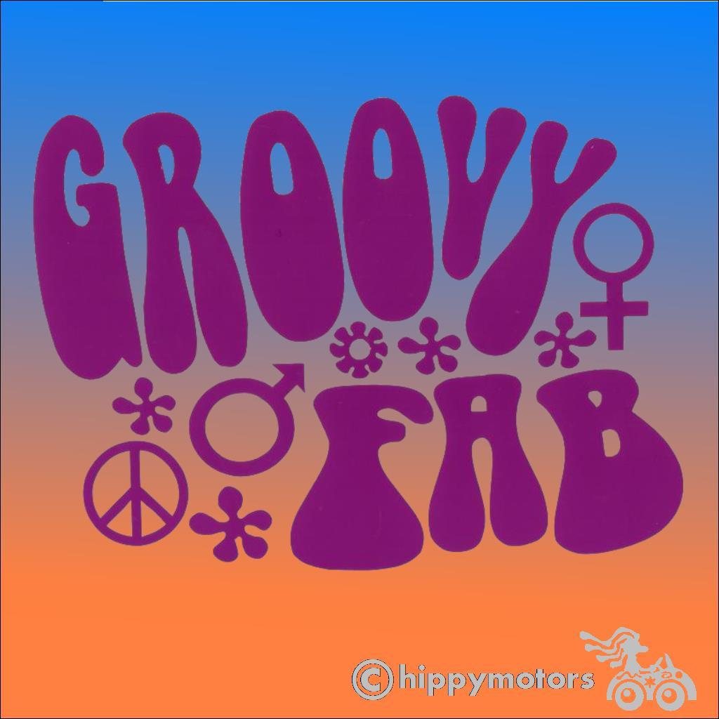 Austin Powers groovy fab Decal high quality vinyl