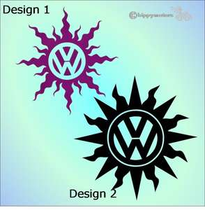 VW vinyl sticker transfer for camper vans windows, cars and caravans