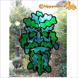 Greenman window or glass decoration