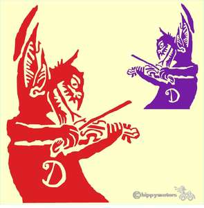 levellers devil with violin vinyl decal for vehicles walls and windows