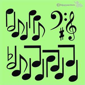 musical notes music symbols vinyl stickers decals for vehicles windows walls