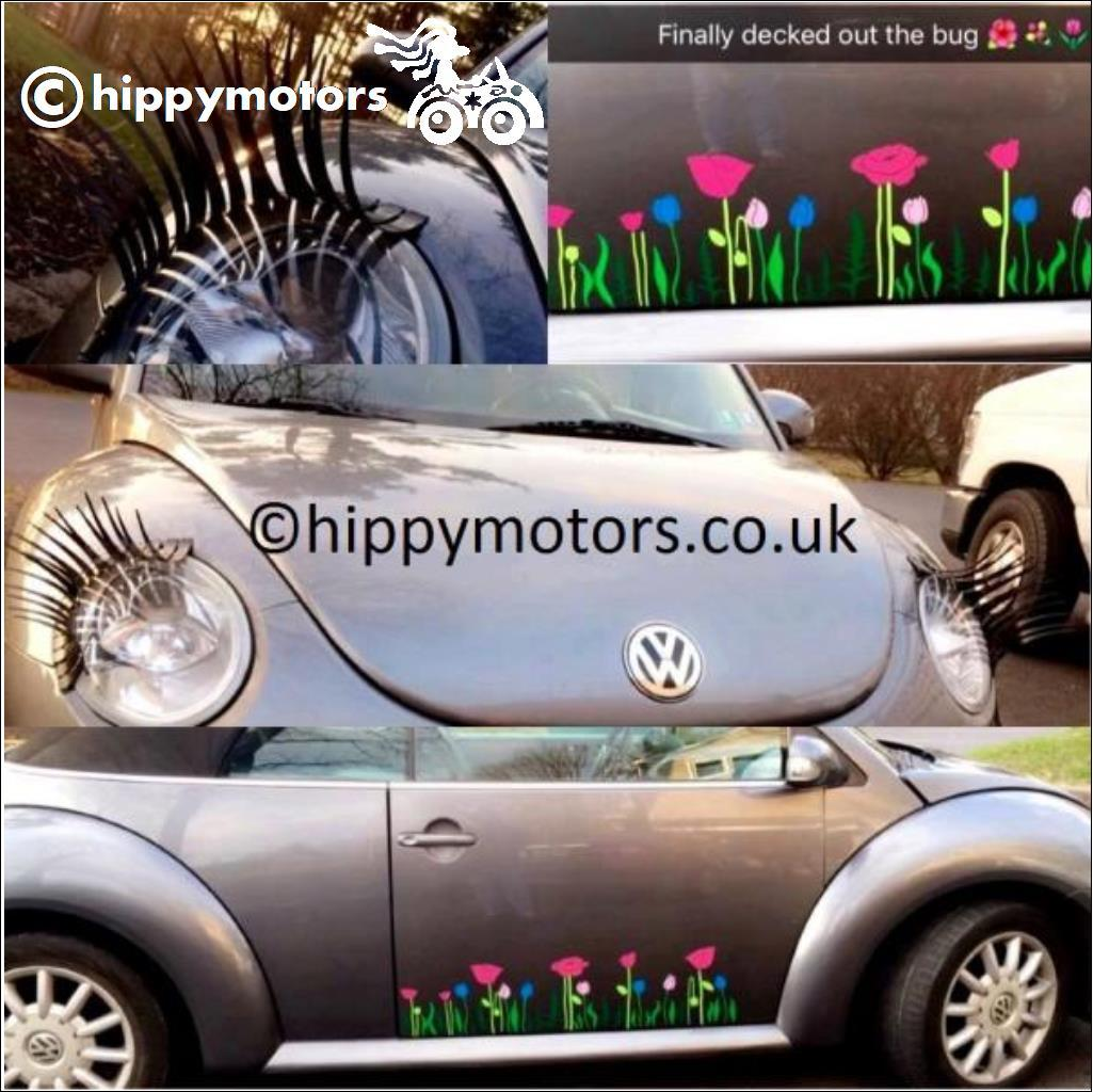 Tulip Decals on VW beetle