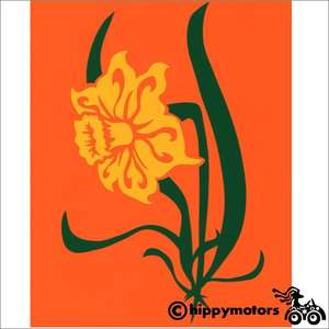 daffodil vinyl car decal for vehicles