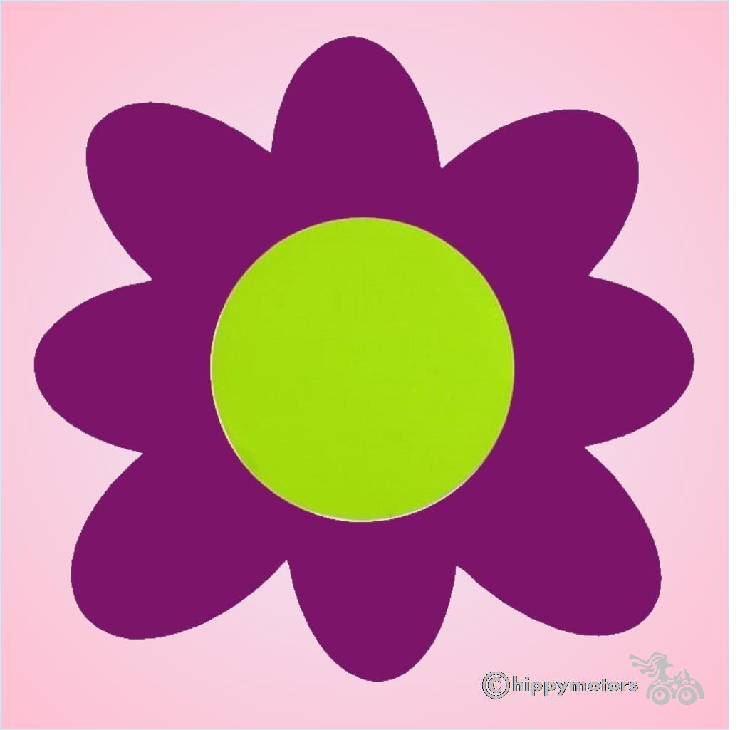 large vinyl flower sticker transfer for vehicles walls and caravans
