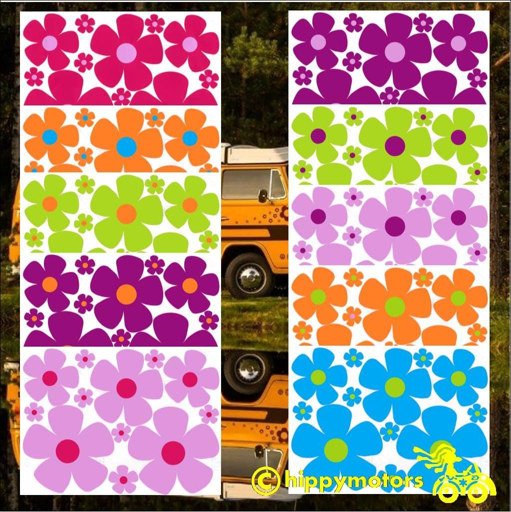 Bargain set of vinyl flowers stickers by hippy motors