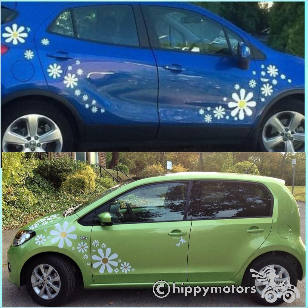 high quality Daisy decal stickers on a car