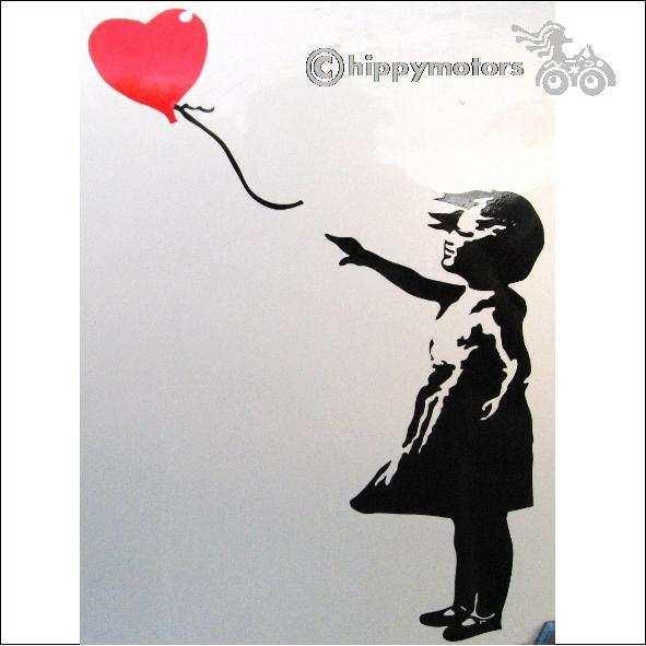 banksy heat ballon girl decal