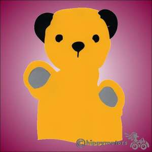 sooty hand puppet vinyl sticker for cars caravans