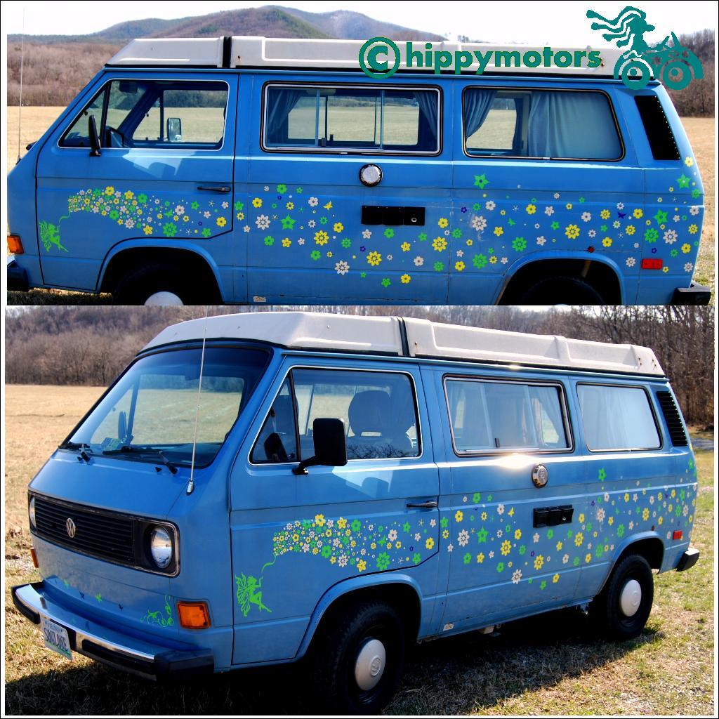 cherry blossom camper van stickers by Hippy Motors