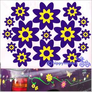 flower decals by Hippy Motors
