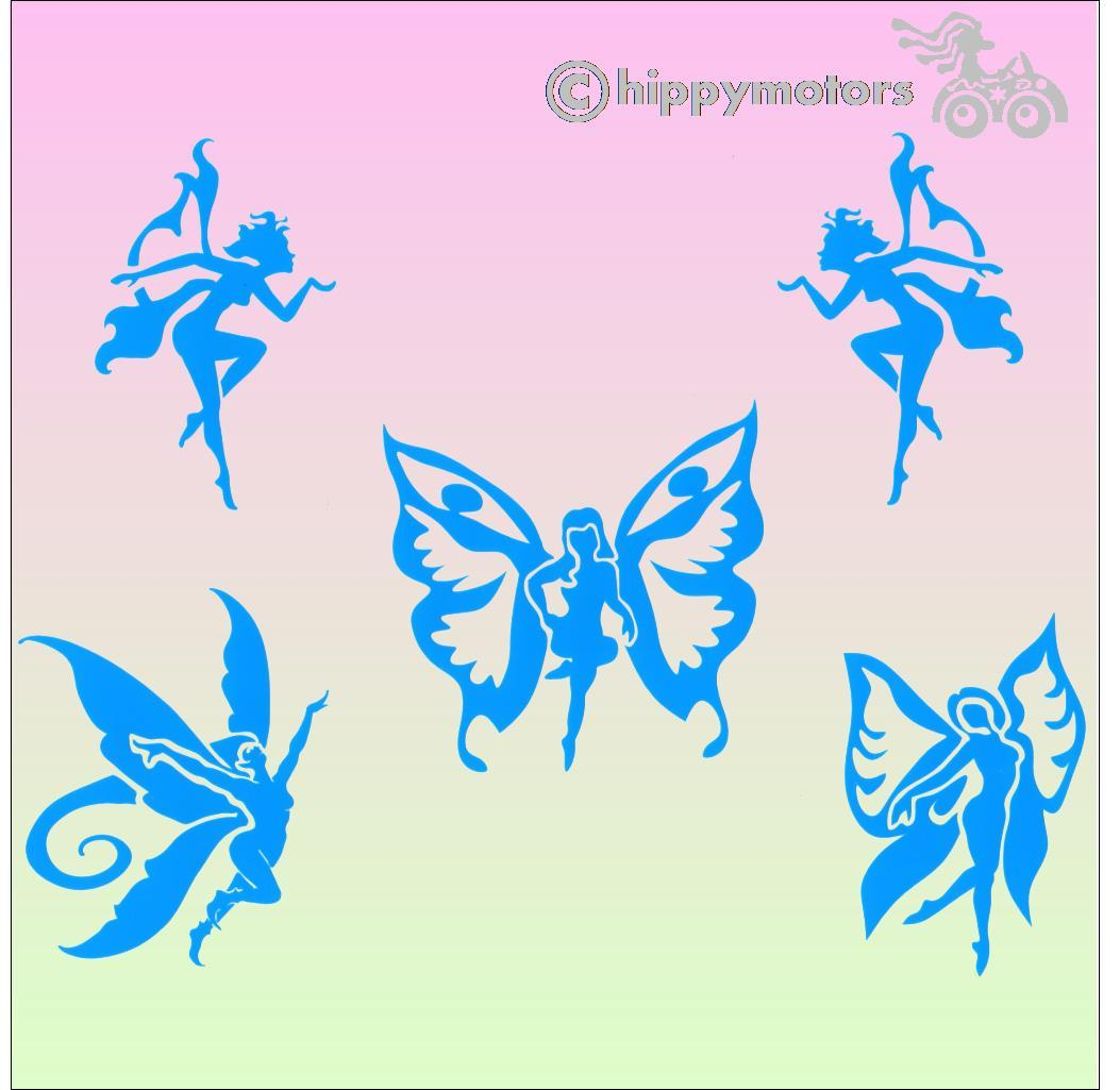tiny fairy decals bicycle stickers hippy motors