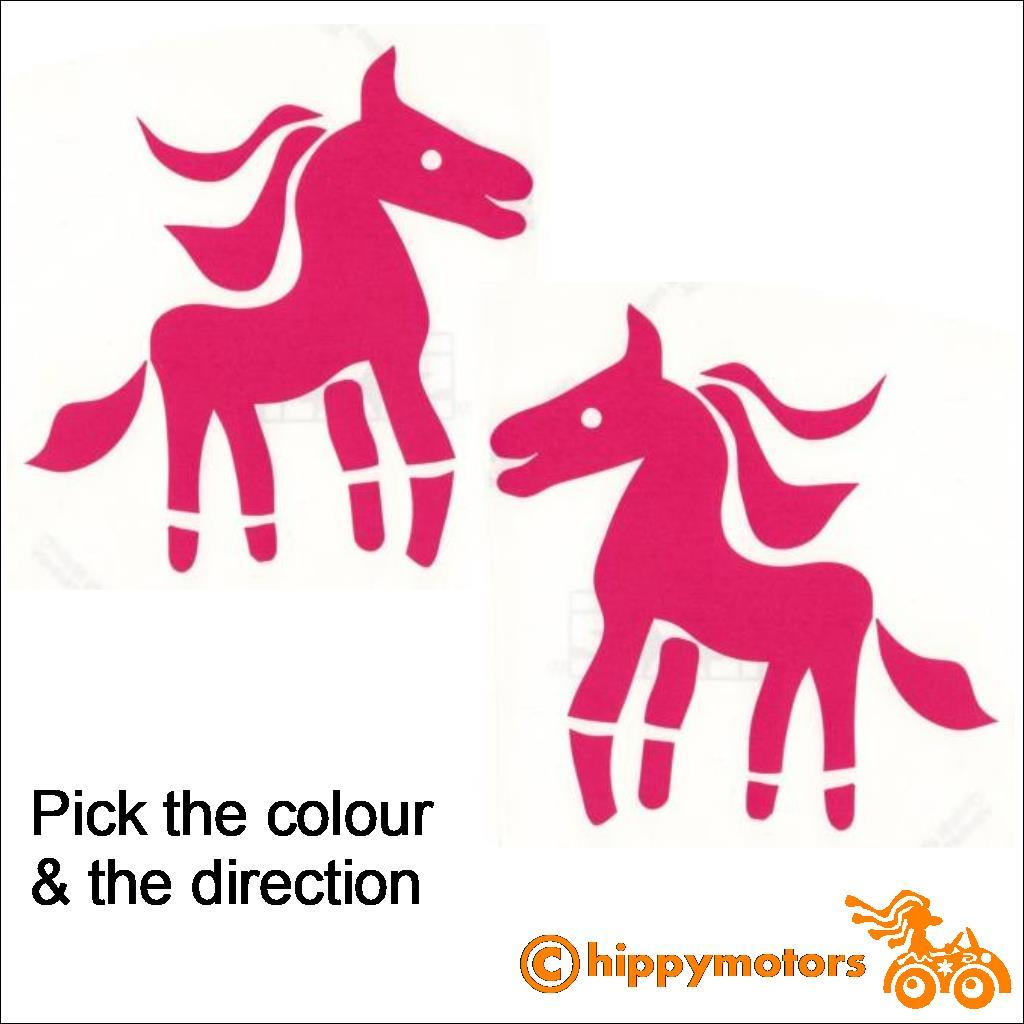 Pony car stickers by Hippy Motors