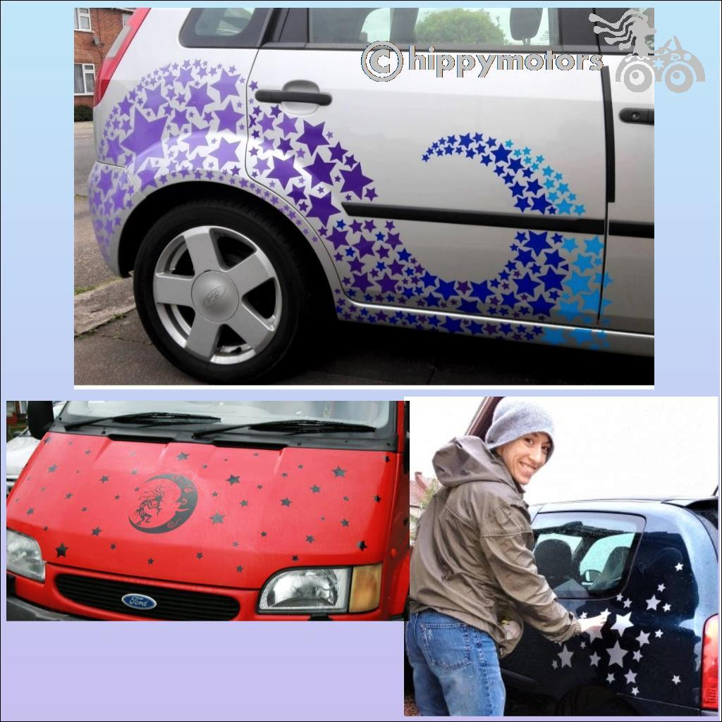 bargain star car stickers hippy motors