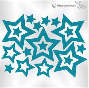 star caravan stickers camper van decals hippy motors