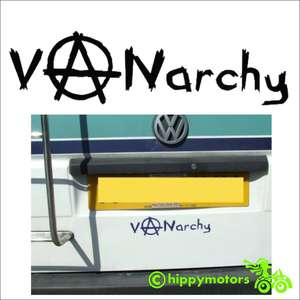 vanarchy decal on a camper van