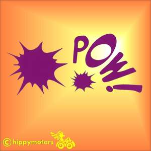 Comic style pow sticker