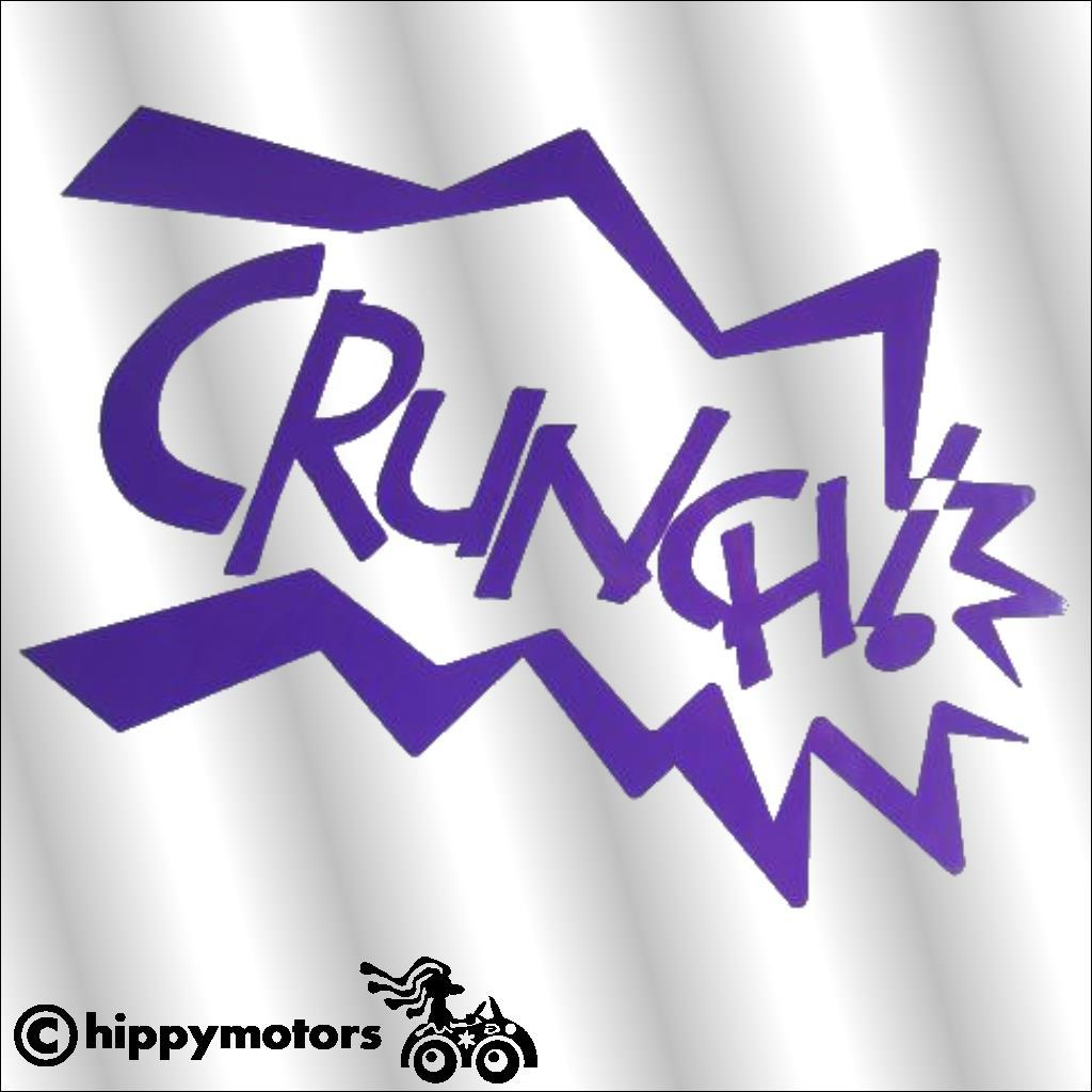 comic style crunch decal