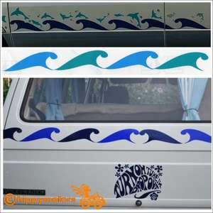 wave strip vinyl camper van sticker