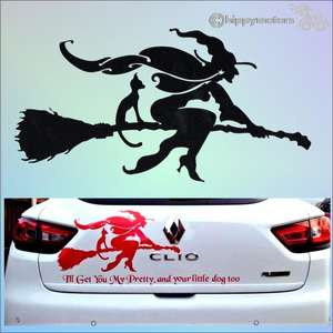 witch decal car sticker window transfer hippy motors