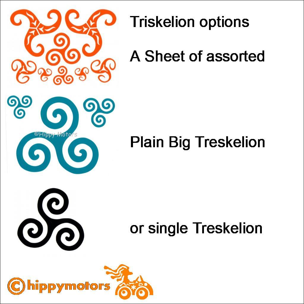 Sizes of hippy motors triskelion decals