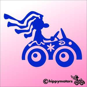 Hippy Motors Driver car decal
