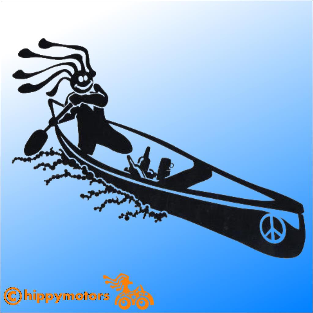 hippy canoe vinyl sticker by hippy motors