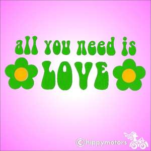 all you need is love vinyl sticker for vehicles walls and windows